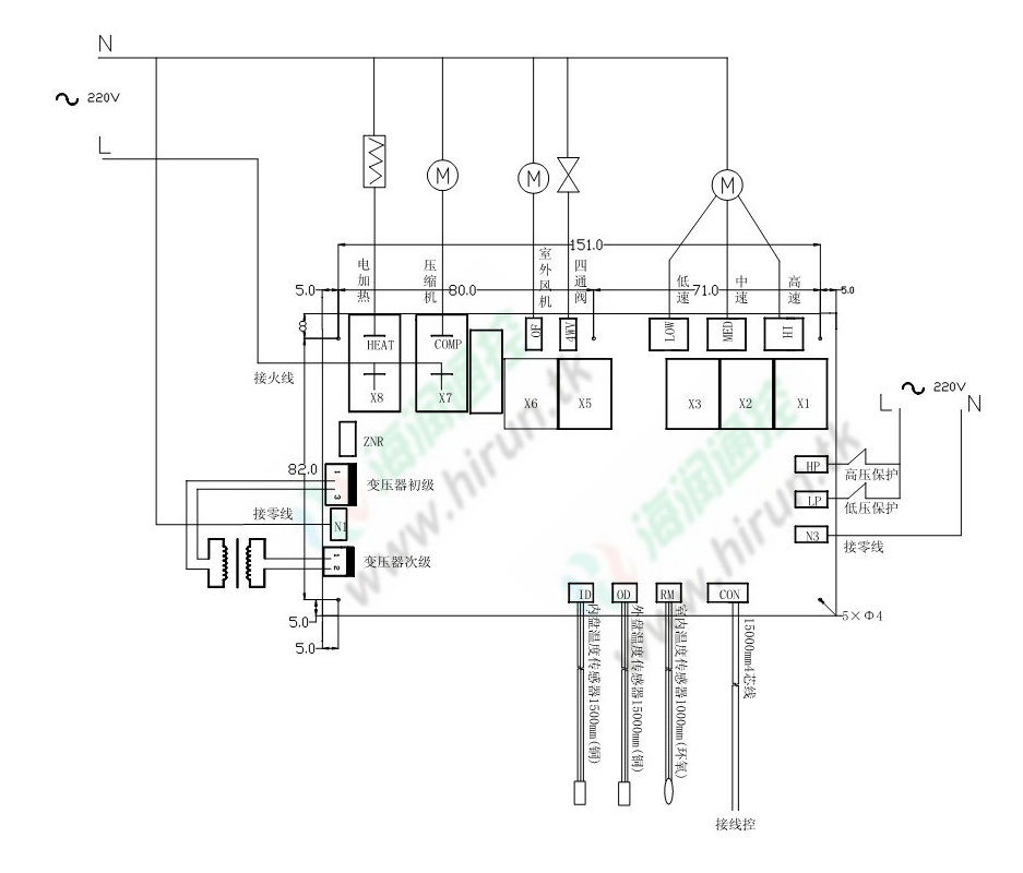 空调室内机电路图