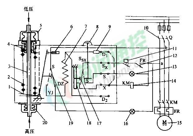 中央空调油压差开关内部结构图